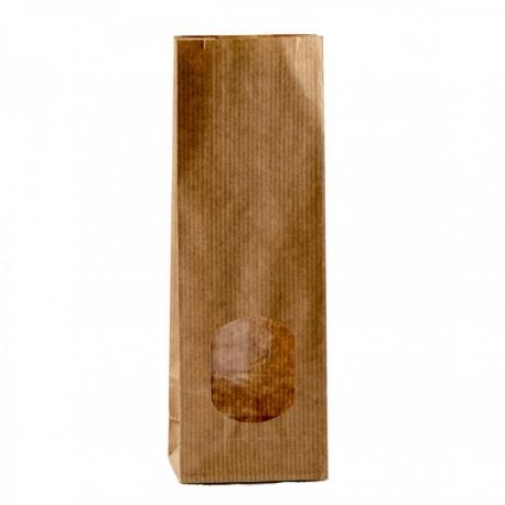 100 Sacchetti Avana Con Finestra Da 100 Grammi Con Stanghetta Oro