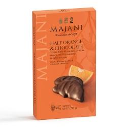 Mezzefette di Arancia Candite Ricoperte Di Cioccolato Fondente