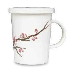 Sakura Tisaniera In Porcellana Con Filtro